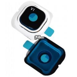 Стекло камеры для Samsung G925F Galaxy S6 EDGE, белое