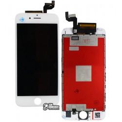 Дисплей iPhone 6S, белый, с сенсорным экраном (дисплейный модуль),с рамкой, high-copy