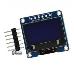 Модуль OLED 128x64 0.96 дюйма, SPI интерфейс, синий