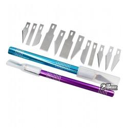 Набор скальпелей WLXY WL-9312AB (нож d=8mm с лезвиями; нож d=10mm с лезвиями)