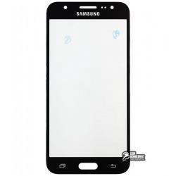 Стекло корпуса для Samsung J500F/DS Galaxy J5, J500H/DS Galaxy J5, J500M/DS Galaxy J5, черное