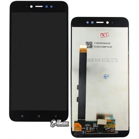 Дисплей для Xiaomi Redmi Note 5A, чорний, з сенсорним екраном