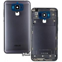 Задняя панель корпуса для Asus Zenfone 3 Max (ZC553KL) 5.5, черная, с боковыми кнопками