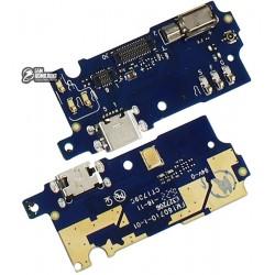 Шлейф для Meizu M3s, M3s Mini, коннектора зарядки, микрофона, с компонентами, плата зарядки