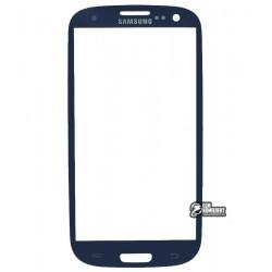 Стекло корпуса для Samsung I9300 Galaxy S3, I9305 Galaxy S3, синее