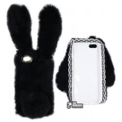 Чехол защитный Kisscase для iPhone 6/6s, меховой кролик, розовый