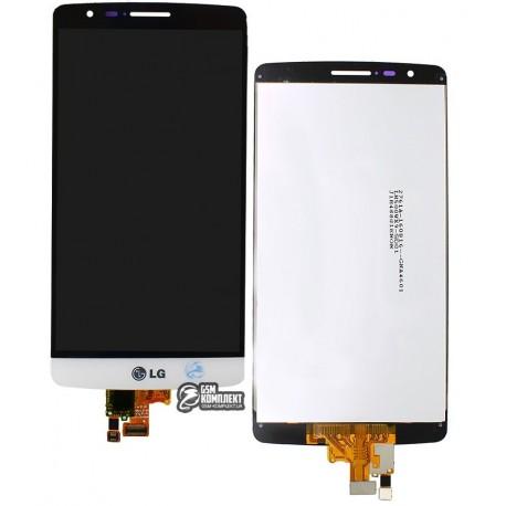 Дисплей для LG G3s D724, белый, с сенсорным экраном (дисплейный модуль),original (PRC)