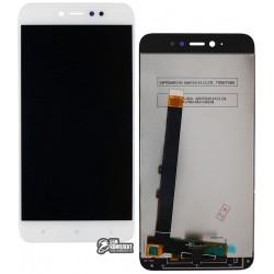 Дисплей для Xiaomi Redmi Note 5A, белый, с сенсорным экраном