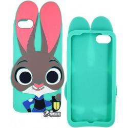 Чехол защитный Кролик для iPhone 7, силиконовый,