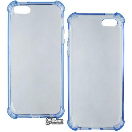 Чехол-накладка TOTO TPU case anti-shock iPhone SE Blue