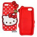 Чехол 3D Hello Kitty для iPhone 5/5S красный