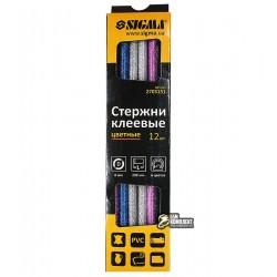 Термоклей цветной D7 мм, 200 мм, набор 12шт