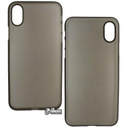 Чехол Hoco Ultra series PP для iPhone X, прозрачно черный, ультратонкий пластиковый