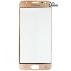 Стекло корпуса для Samsung J330F Galaxy J3 (2017), золотистое