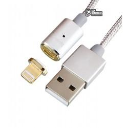 Кабель Lightning - USB магнитный, Hoco U16 Magnetic, для iPhone 5/6/7, круглый, 1.2 метра