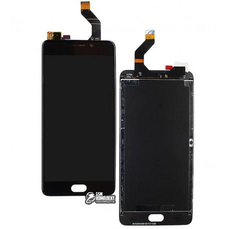 Дисплей для Meizu M6 Note, чорний, з сенсорним екраном, original (PRC)