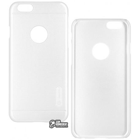 Чехол накладка Nillkin Frosted для Apple iPhone 6/6S, пластиковая, белая