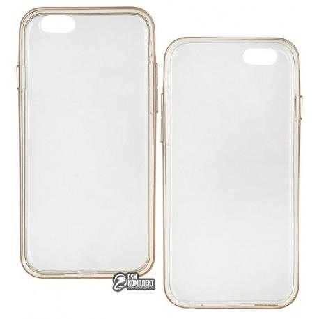 Чехол Usams Case+TPU Ultra Thin Soft Transparent Slim для iPhone 6S/6, Gold