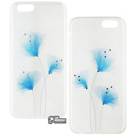 Чехол Vouni Crystal Soft Case для iPhone 6S/6, Blue flowers
