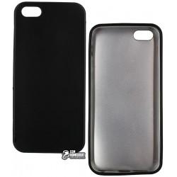 Чехол защитный для iPhone 5 / 5s / SE, силиконовый, матовый, черный