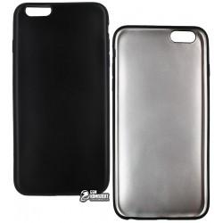Чехол защитный для iPhone 6/6S, матовый силиконовый, черный