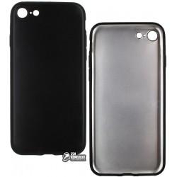 Чехол защитный для iPhone 7 / iPhone 8, матовый силиконовый, черный