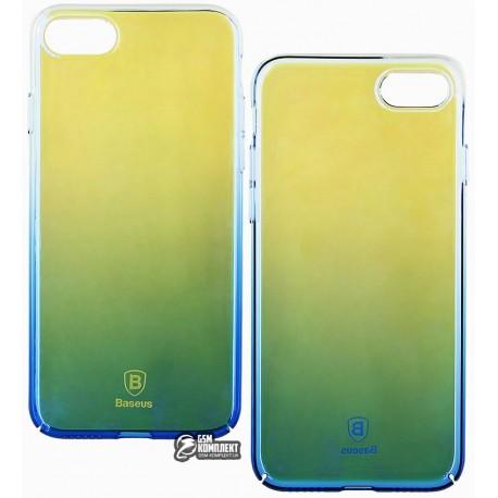 Чехол-накладка Baseus Glaze для iPhone 7 голубая