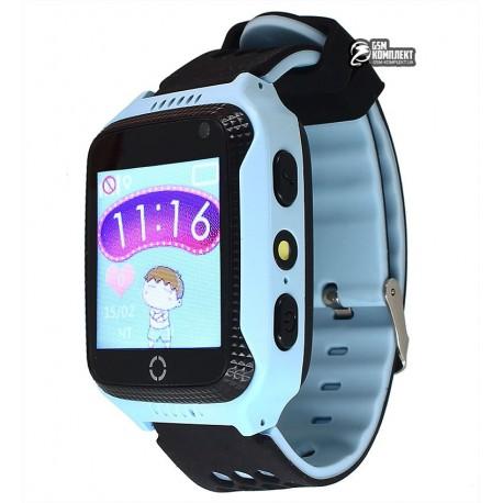 Детские часы Smart Baby Watch Q529 1.4', с GPS трекером, IP66, синие