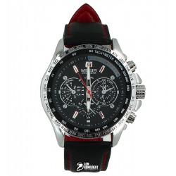 Мужские кварцевые часы Megir 1010 с кожаным ремешком