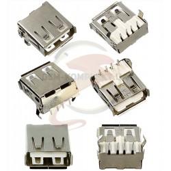 Гнездо USB-A dip на плату (USB-109) USB-02-FD-90