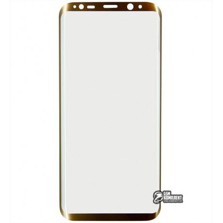Загартоване захисне скло для Samsung G955 Galaxy S8 Plus, 0,3мм, 3D, Золоте