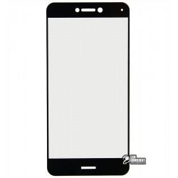 Закаленное защитное стекло для Huawei P8 Lite (2017), 2,5D, 0,26 мм 9H, черное