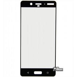 Закаленное защитное стекло для Nokia 8 Dual Sim, 0,25 мм, 2.5D, 9H, черное