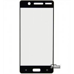 Закаленное защитное стекло для Nokia 5 Dual Sim, 0,25 мм, 2.5D, 9H, черное