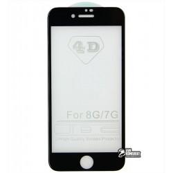 ЗакаленноезащитноестеклодляAppleiPhone7,iPhone7s,5D,0,26мм,черное