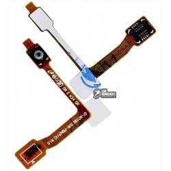 Шлейф для Samsung N7100 Note 2, кнопки ввімкнення, з компонентами