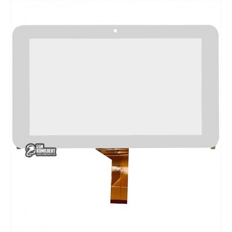 Тачскрін (сенсорний екран, сенсор) для китайського планшету 7, 30 pin, с маркировкой FM707001KC, размер 186*111 мм, белый