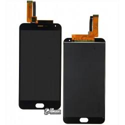 Дисплей для Meizu M2 Note, черный, с сенсорным экраном (дисплейный модуль)