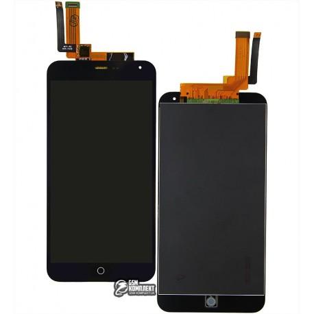 Дисплей для Meizu M1 Note, чорний, з сенсорним екраном, желтый шлейф, (тип 2), original (PRC)
