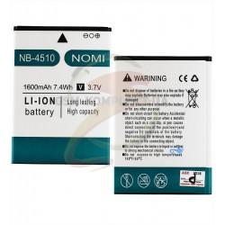 Аккумулятор (акб) NB-4510 для Nomi i4510 Beat M, Li-ion, 3,7 В, 1600 мАч, original