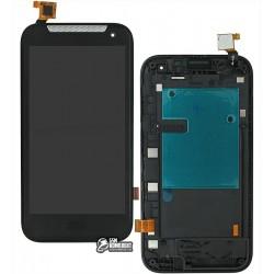 Дисплей для HTC Desire 310, черный, с сенсорным экраном (дисплейный модуль),с передней панелью, (128*63,5)