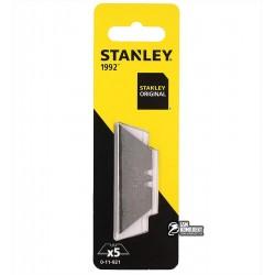"""Лезвия Stanley трапецевидные """"1992"""", длина 62мм, 5шт"""
