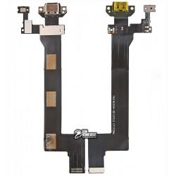 Шлейф для Meizu Pro 5, коннектора зарядки, с компонентами