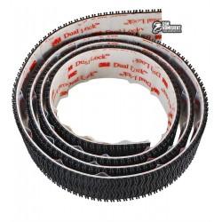 Самоклеящиеся застежки черные 3M Dual Lock 3550, 19мм x 3.5мм x 1м, 1000 циклов