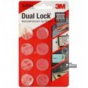 Набор круглых прозрачных застежек 3M Dual Lock, 8шт d=22мм, 1000 циклов