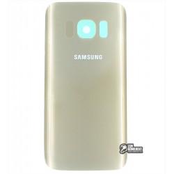 Задняя панель корпуса для Samsung G930F Galaxy S7, золотистая, original (PRC)