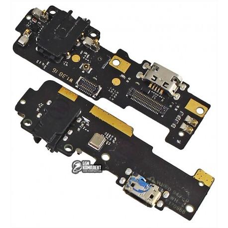 Шлейф для Meizu M3E, микрофона, коннектора зарядки, плата зарядки