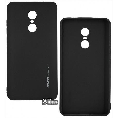 Чехол защитный Smtt для Xiaomi Redmi Note 4X, силиконовый, черный