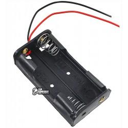 Отсек для батарей 2xAA плоский с проводами