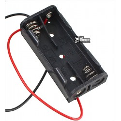 Отсек для батарей 2xAAA верхняя загрузка с проводами